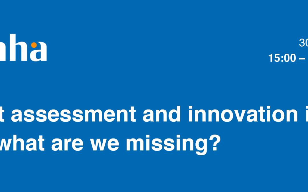 IN-4-AHA: Ocena učinka inovacij v AHA- kaj še pogrešamo?, 30. 07. 2021, ob 15:00