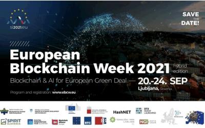 Vabilo na teden Evropskega Blockchaina – EU Blockchain week