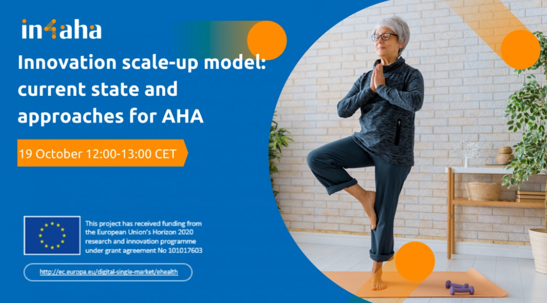 Delavnica IN-4-AHA: Innovation scale-up model: current state and approaches for AHA, 19. 10.